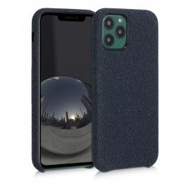 KW TPU Case with Canvas Design iPhone 11 Pro - Dark Blue,Canvas (49804.17)