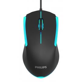 PHILIPS ενσύρματο gaming ποντίκι SPK9314, 1200DPI, 3 πλήκτρα - Black