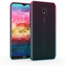 KW TPU Silicone Case Xiaomi Redmi 8A - Bicolor Design Dark Pink / Blue / Transparent (50852.01)