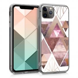 KW TPU Silicone Case Apple iPhone 11 Pro - IMD Design Light Pink / Rose Gold / White (49784.06)