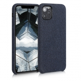 KW TPU Case with Canvas Design iPhone 11 Pro Max - Dark Blue ,Canvas (49806.17)