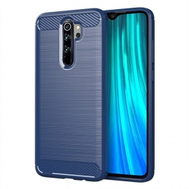 OEM Carbon Case Flexible Cover TPU Xiaomi Redmi Note 8 Pro - Blue