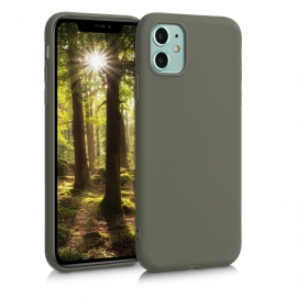KW TPU Silicone Case iPhone 11 - Olive Green Matte (49787.101)