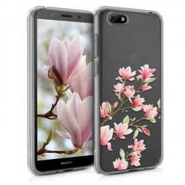 KW TPU Silicone Case Huawei Y5 2018 - Magnolias Light Pink White (46484.04)