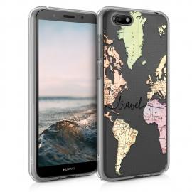 KW TPU Silicone Case Huawei Y5 2018 - World Map Travel (46484.05)
