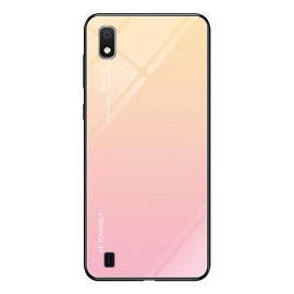 OEM Gradient Glass Durable Case Samsung Galaxy A10 - Pink