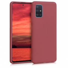 KW TPU Silicone Case Samsung Galaxy A51 - Maroon Red (51196.160)