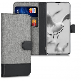 KW Wallet Case Samsung Galaxy A51 - Grey / Black (51194.22)