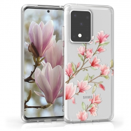 KW TPU Silicone Case Samsung Galaxy S20 Ultra - Magnolias Light Pink White (51228.01)