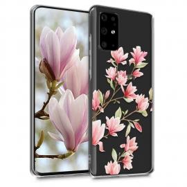 KW TPU Silicone Case Samsung Galaxy S20 - Magnolias  Light Pink White (51218.01)
