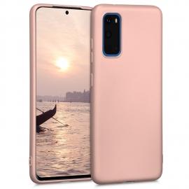 KW TPU Silicone Case Samsung Galaxy S20 - Metallic Rose Gold (51237.31)