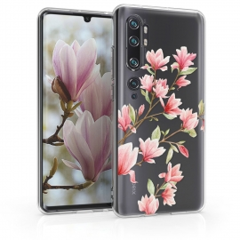 KW TPU Silicone Case Xiaomi Mi Note 10 - Magnolias Light Pink White (50954.02)