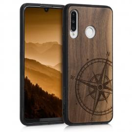 KW Wooden Case Huawei P30 Lite - Navigational Compass (47506.07)