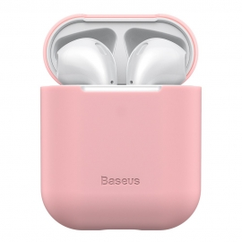Baseus Ultra Thin Silicone Protective Case for Airpods 1/2nd Generation - Pink (WIAPPOD-BZ04)