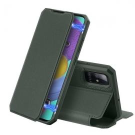 DuxDucis Skin X Bookcase Samsung Galaxy A51 - Midnight Green