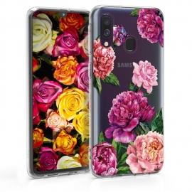 KW TPU Silicone Case Samsung Galaxy A40 - Flower Mix Violet (48542.14)