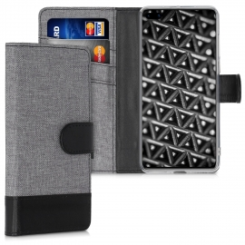 KW Wallet Case Huawei P40 - Grey / Black (51495.22)
