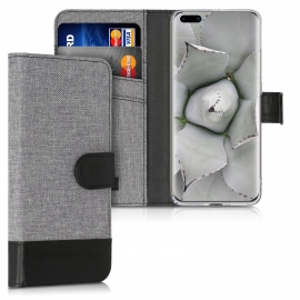KW Wallet Case Huawei P40 Pro - Grey / Black (51496.22)