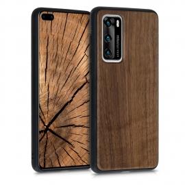 KW Wooden Case Huawei P40 - walnut, Dark Brown (51532.18)