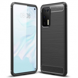 OEM Carbon Case Flexible Cover TPU Huawei P40 Pro - Black