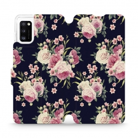Mobiwear Wallet Stand Case Samsung Galaxy A41 - Wild Roses (V068P)