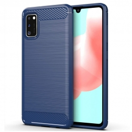 OEM Carbon Case Flexible Cover Case Samsung Galaxy A41 - Blue