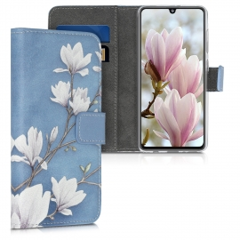 KW Wallet Case Samsung Galaxy A41 - Taupe / White / Blue Grey (52302.01)