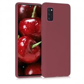 KW TPU Silicone Case Samsung Galaxy A41 - Maroon Red (52251.160)
