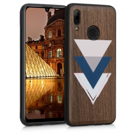 KW Wooden Case Huawei P Smart 2019 - Wood and Triangles (48117.07)