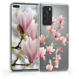 KW TPU Silicone Case Huawei P40 - Magnolias Light Pink White (52162.04)