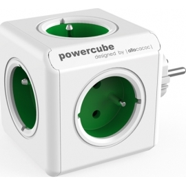 Allocacoc PowerCube Original 5-Outlets - Green (1100GN/DEORPC)