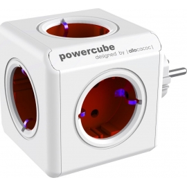 Allocacoc PowerCube Original 5-Outlets - Red (1100RD/DEORPC)