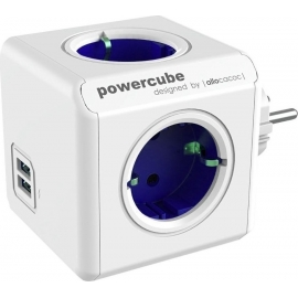 Allocacoc PowerCube Original USB 4 Θέσεων & 2 Θύρες USB - Blue (1202BL/DEOUPC)