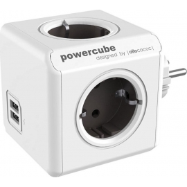 Allocacoc PowerCube Original USB 4 Θέσεων & 2 Θύρες USB - Grey (1202GY/DEOUPC)