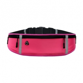 OEM Ultimate reflective stripe Running Belt with headphone outlet - Pink