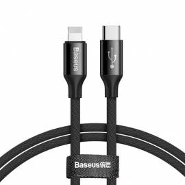 Baseus Yiven Type-C to Lightning Cable 2A 1m - Black (CATLYW-C01)