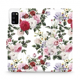 Mobiwear Wallet Stand Case Samsung Galaxy A41 - Floral (MD01S)