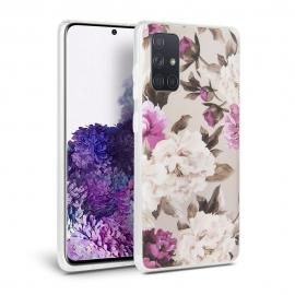 Tech-Protect TPU Case Samsung Galaxy A71- Floral Beige