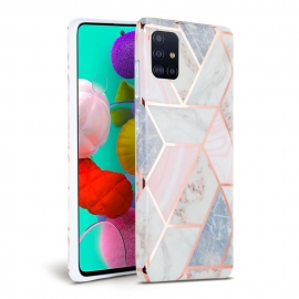 Tech-Protect TPU Case Samsung Galaxy A51 - Marble Pink