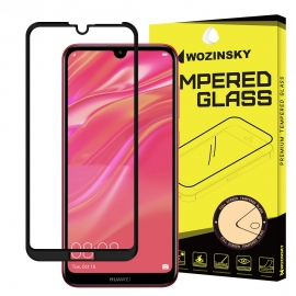 Wozinsky Full Cover Tempered Glass 9H Full Glue with Frame Case Friendly Huawei Y7/ Y7 Prime 2019 - Black