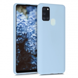 KW TPU Silicone Case Samsung Galaxy A21s - Light Blue Matte (52494.58)
