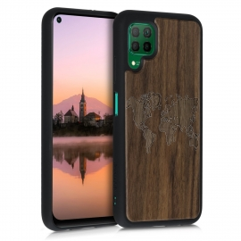 KW Wooden Case Huawei P40 Lite - Travel Outline (52350.05)