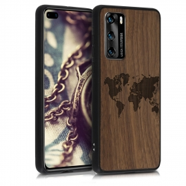 KW Wooden Case Huawei P40 - Travel Outline (52351.05)