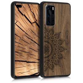 KW Wooden Case Huawei P40 - Rising Sun Dark Brown (52351.01)