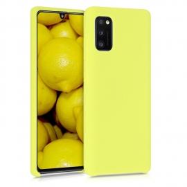 KW TPU Soft Flexible Rubber Samsung Galaxy A41 - Yellow Matte (52301.49)