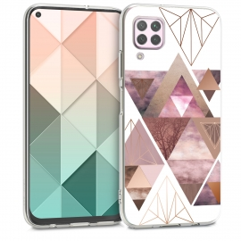 KW TPU Silicone Case Huawei P40 Lite - IMD Design Light Pink / Rose Gold / White (51990.02)