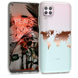 KW Crystal TPU Case Huawei P40 Lite - Travel Outline Rose Gold / Transparent (52406.03)